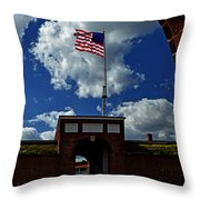 Fort Mchenry Main Gate Throw Pillow