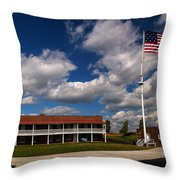 Fort Mchenry Parade Ground Barracks Throw Pillow