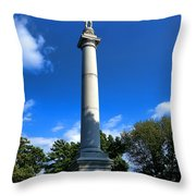 Fort Mercer Monument Throw Pillow by Olivier Le Queinec