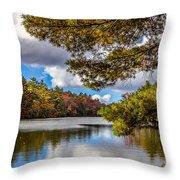 Fort Mountain State Park Lake Trail Throw Pillow