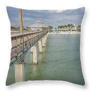 Fort Myers Beach Throw Pillow