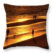 Fort Myers Beach Sunset  Throw Pillow