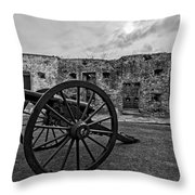 Fort Pike Cannon Throw Pillow