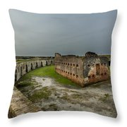 Fort Pike Throw Pillow by David Morefield