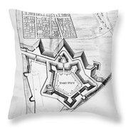 Fort Pitt, 1761 Throw Pillow
