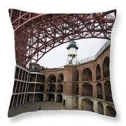 Fort Point And Golden Gate Bridge San Francisco Throw Pillow