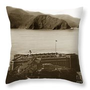 Fort Point And The Golden Gate San Francisco Circa 1890 Throw Pillow