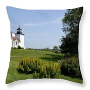 Fort Point Light Maine Throw Pillow