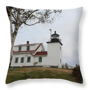 Fort Point Lighthouse 9239 Throw Pillow