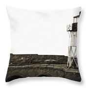 Fort Point Lighthouse Throw Pillow