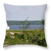 Fort Point State Park - Maine Throw Pillow