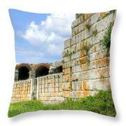 Fort Popham In Phippsburg Maine Throw Pillow
