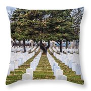 Fort Snelling National Cemetery Throw Pillow