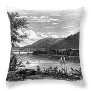 Fort Ticonderoga Ruins Throw Pillow