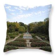 Fort Worth Arboretum Throw Pillow