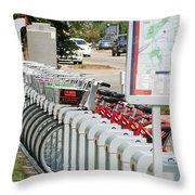 Fort Worth B Cycle 2 Throw Pillow