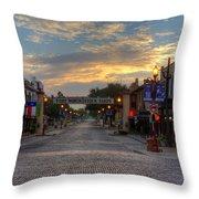 Fort Worth Stockyards Sunrise Throw Pillow