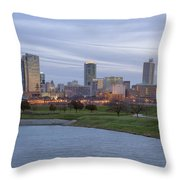 Fort Worth Texas Throw Pillow