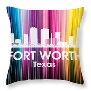Fort Worth Tx 2 Throw Pillow