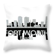 Fort Worth Tx 4 Throw Pillow