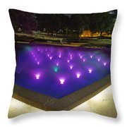 Fort Worth Water Garden Aerated Pool Throw Pillow
