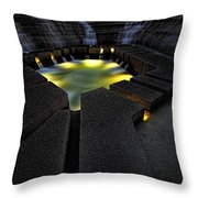 Fort Worth Water Garden Water Fall Throw Pillow