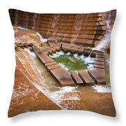 Fort Worth Water Gardens Throw Pillow