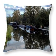 Forth Canal Reflection Throw Pillow