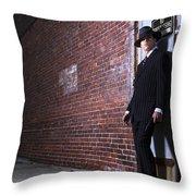 Forties Style Film Noir Gangster Throw Pillow