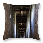 Fortified Covered Walkway Throw Pillow