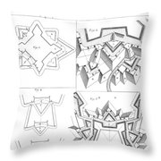 Fortress, 18th Century Throw Pillow