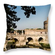 Fortress And Bridge Throw Pillow
