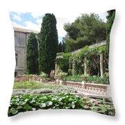 Fortress Garden  Villeneuve Les Avignon Throw Pillow