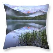 Fortress Mountain Alberta Canada Throw Pillow