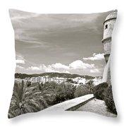 Fortress Overlooking Palma De Majorca Throw Pillow