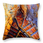 Fortress Steps Throw Pillow