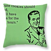 Fortune Cookie Truth Throw Pillow