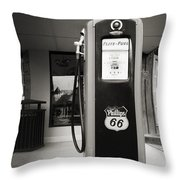 Forty Cents A Gallon Throw Pillow