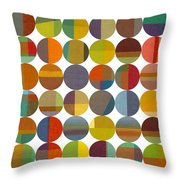 Forty Eight Circles 2.0 Throw Pillow