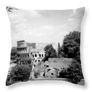 Forum Romanum Rome Italy Throw Pillow