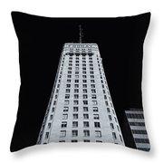 Foshay Tower  Mono Throw Pillow