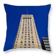 Foshay Tower Throw Pillow