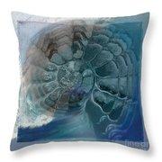 Fossil Ocean Throw Pillow