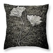 Fossilized Flowers Throw Pillow