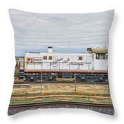 Foster Farms Locomotive Throw Pillow