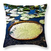 Foul Ball And The Lily Pads Throw Pillow