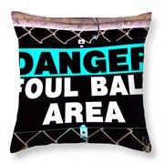 Foul Ball Area Throw Pillow