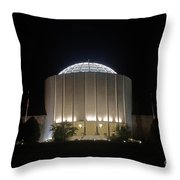 Founders Hall At Night Throw Pillow