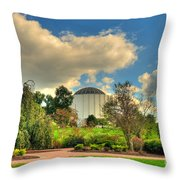 Founders Hall From The Garden Throw Pillow