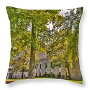 Founders Hall Portico Entrance Throw Pillow